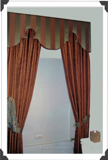 Cornice and Shower Curtain